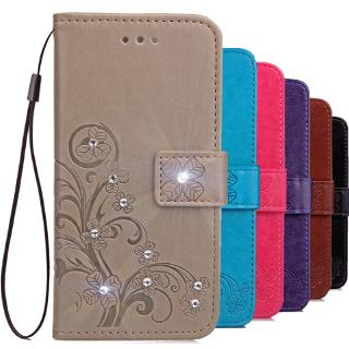 Lucky Four Leaves Clover Bling Wallet Stand Phone Case for Motorola Moto G7 Z4 PLAY power P40 one v