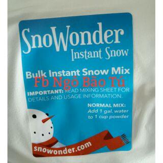 Tuyết mỹ snowonder làm slime