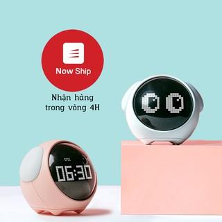 Đồng hồ báo thức kiêm đèn ngủ cảm biến âm thanh Emoji Alarm clock đồng hồ biểu tượng cảm xúc dễ thương