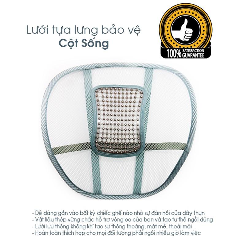 Tấm lưới tựa lưng bảo vệ cột sống - 2757379 , 389548251 , 322_389548251 , 30000 , Tam-luoi-tua-lung-bao-ve-cot-song-322_389548251 , shopee.vn , Tấm lưới tựa lưng bảo vệ cột sống