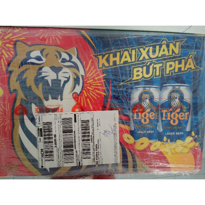 thùng 24 lon bia tiger mẫu mới
