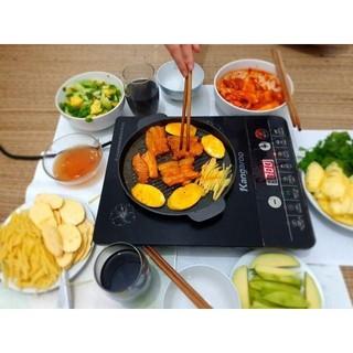 [SẴN] Chảo gang đen. khay nướng đun các loại: bếp từ, hồng ngoại, bếp cồn, bếp ga, bếp than..