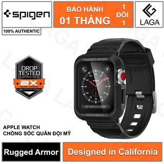 [Mã ELMS5 giảm 7% đơn 300K] Ốp Lưng Apple Watch 40mm / 44mm Spigen Rugged Armor Pro Series SE / 6 / 5 / 4 [có dây]
