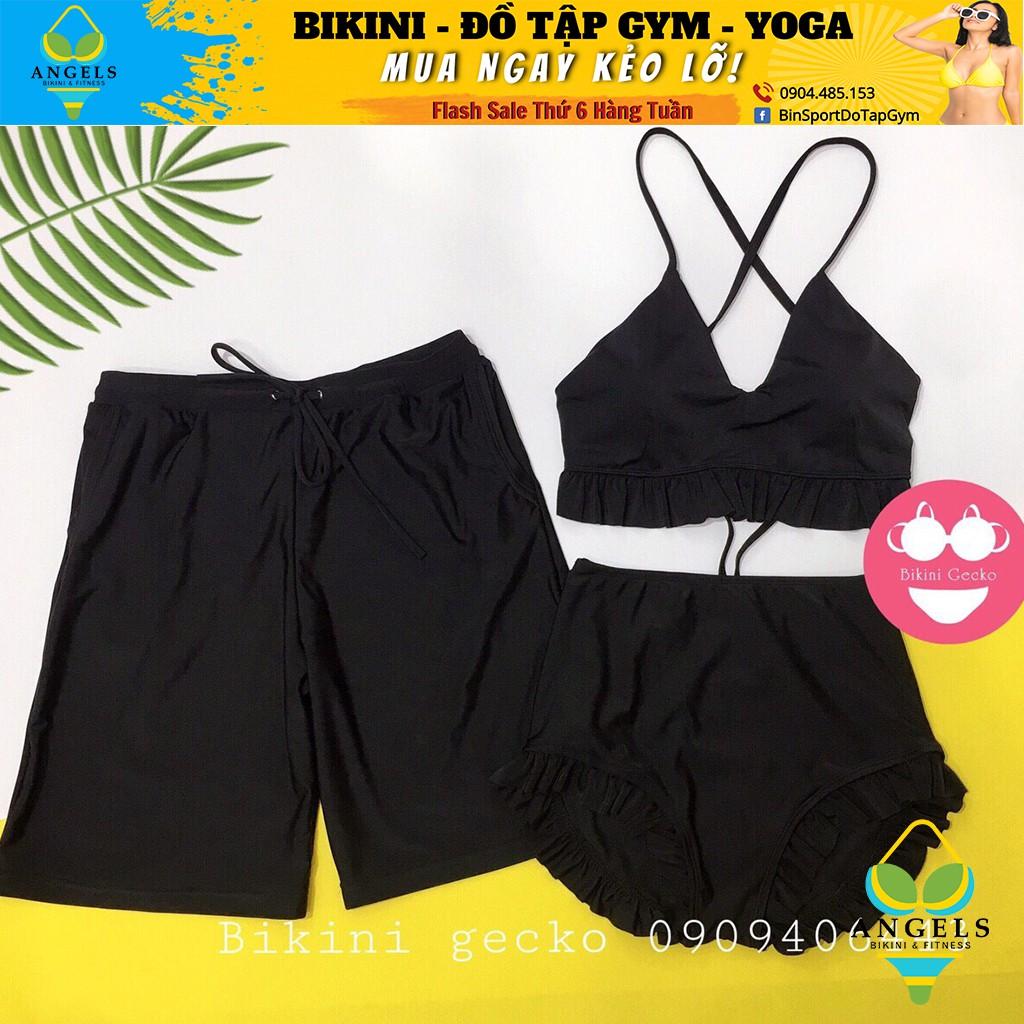 Bikini Hai Mảnh Viền Bèo nhiều màu BHV011
