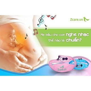 Tai nghe bà bầu 2 loa an toàn cho thính giác thai nhi của ZCARE - Hàng chính hãng - Bảo hành 12 tháng