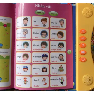 Sách học nói song ngữ điện tử cho bé