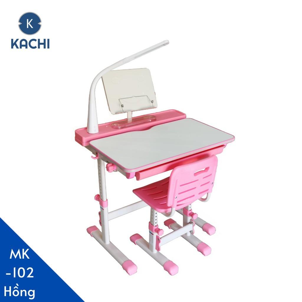 [Mã HLMALL20 giảm 15% đơn 100K] Bộ bàn học thông minh chống gù lưng Kachi MK102 – Màu Hồng