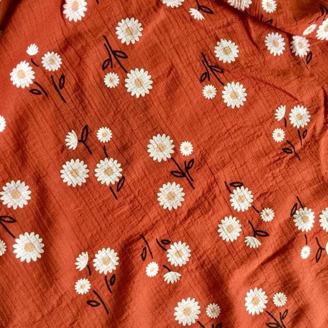 Vải đũi hoa thiết kế
