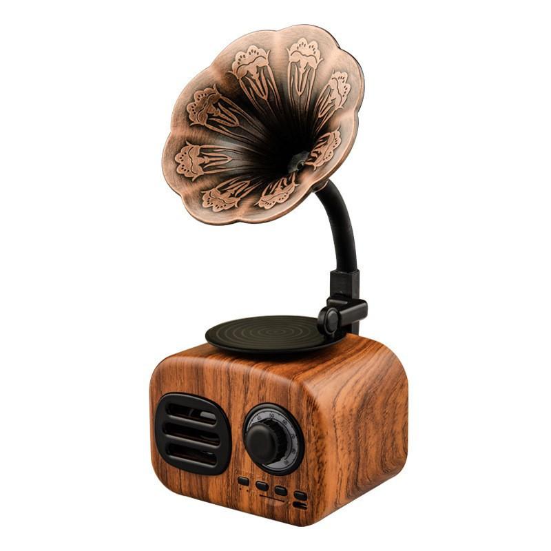 Loa Bluetooth phong cách cổ điển classic style FT-05 âm thanh siêu trầm công suất 5W