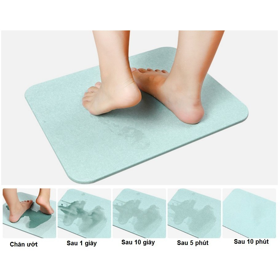 Thảm cứng siêu thấm Nhật Bản Size to 60x39x0.9 cm - Thảm cứng siêu thấm dùng cho phòng khách nhà tắm nhà bếp hút nước cự