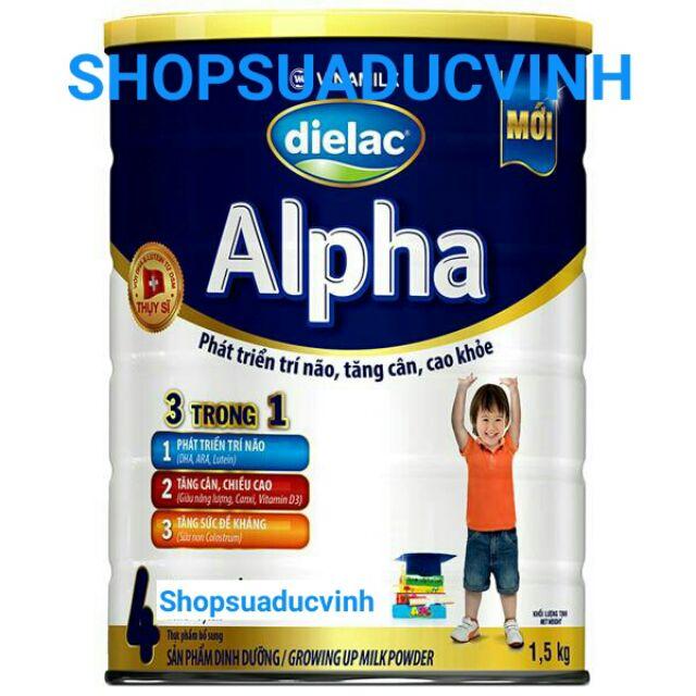 Sữa bột Vinamilk Dielac Alpha 4 1.5kg date 03,04/2020