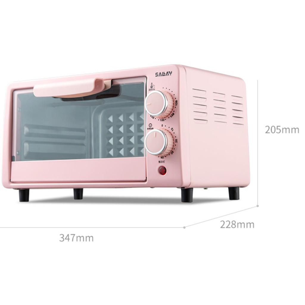 Lò Nướng Đa Năng Mini SALAY dung tích 12l, rã đông, nướng bánh Công Suất Lớn 800W