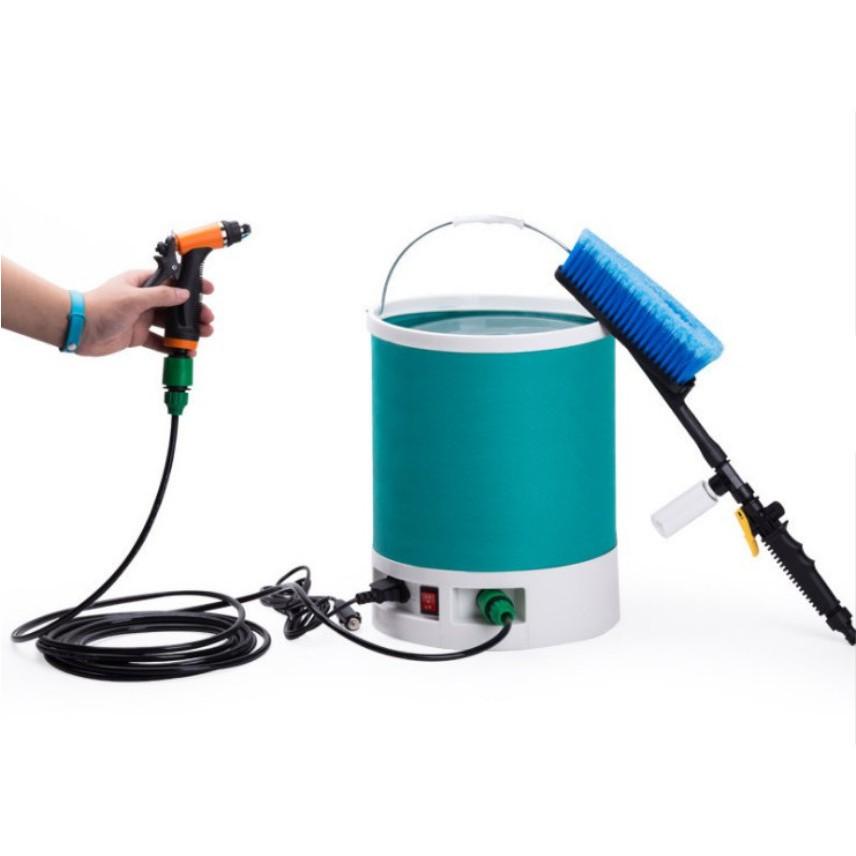 Máy xịt rửa xe cao áp kiêm chức năng bơm lốp cho ô tô nguồn 12V Home and Garden