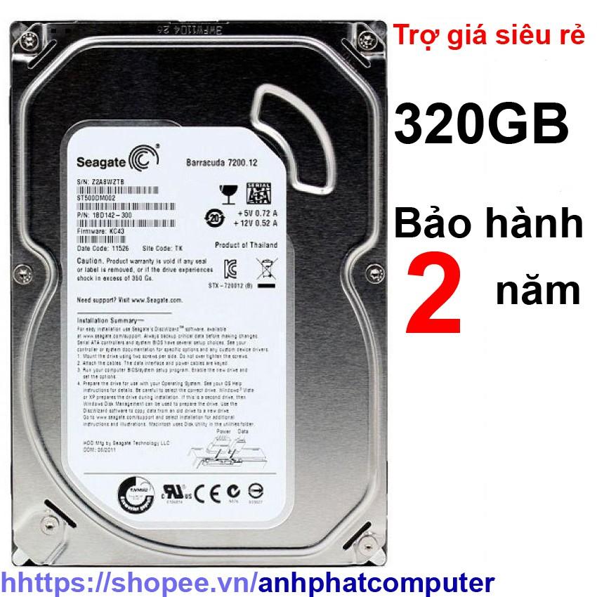 Ổ cứng HDD 320gb sata Bảo hành 2 năm