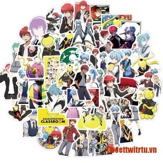 【TrTu】50Pcs Anime Assassination Classroom Stickers For DIY Skateboard Guitar L