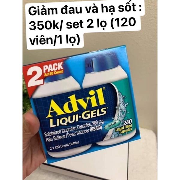 Advil Liqui-Gels 200mg 240 Softgels