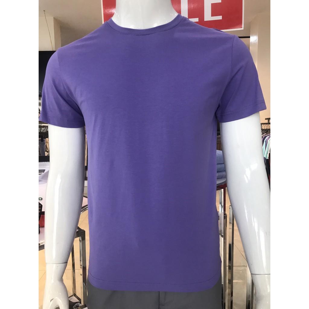 Áo phông cổ tròn màu tím ALGAPC023