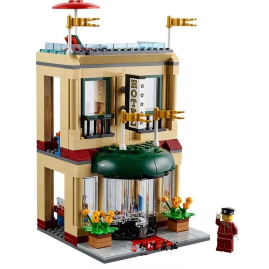 Bộ lắp ráp kiểu lego city cities - quảng trường trung tâm thành phố AC199