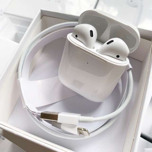 Tai nghe Airpods 2 - Tai Nghe Bluetooth - Full chức năng đổi tên định vị sạc không dây - BH 12 tháng