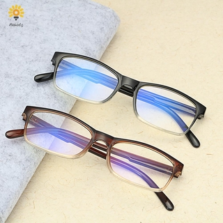 💍MELODG💍 Diopter +1.0~4.0 Blue Light Blocking Ultralight Readers Gradient Reading Glasses Vision Care Fashion Spring Hinge Eyewear Presbyopic Glasses/Multicolor