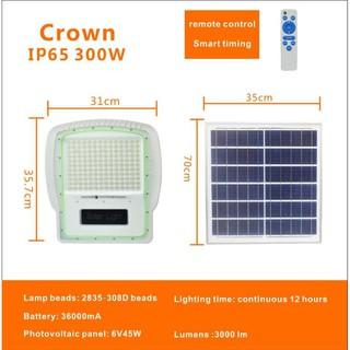 Đèn pha năng lượng mặt trời Crown 300W – Bảo hành 24 tháng