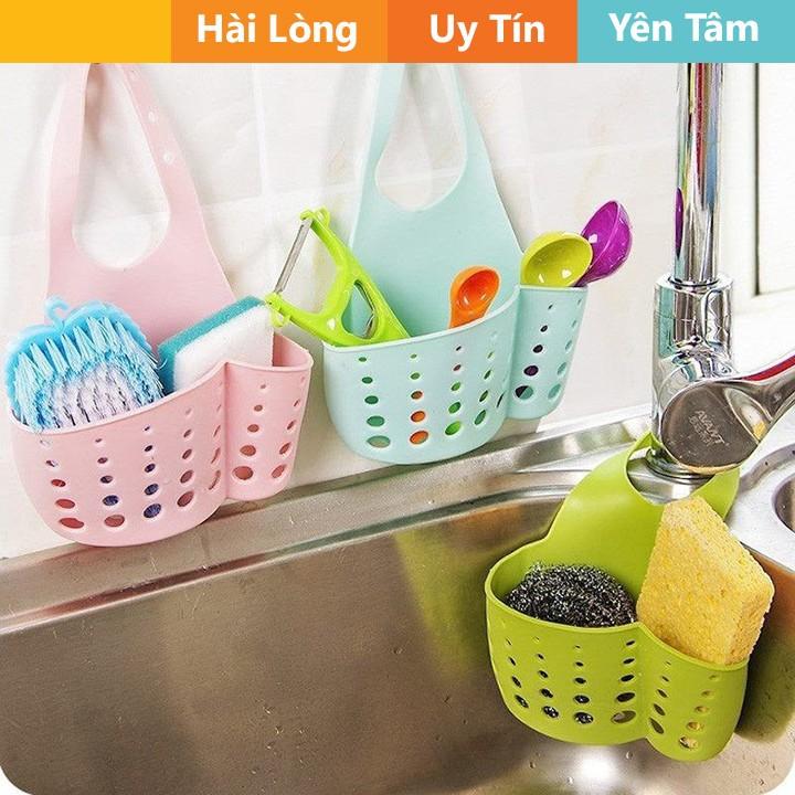 Giỏ nhựa dẻo đựng đồ ở bồn rửa bát tiện dụng  - thiết bị gia dụng tiện lợi