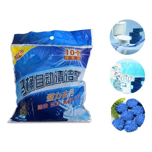 Combo 10 viên tẩy bồn cầu loại bỏ vi khuẩn, mùi hôi