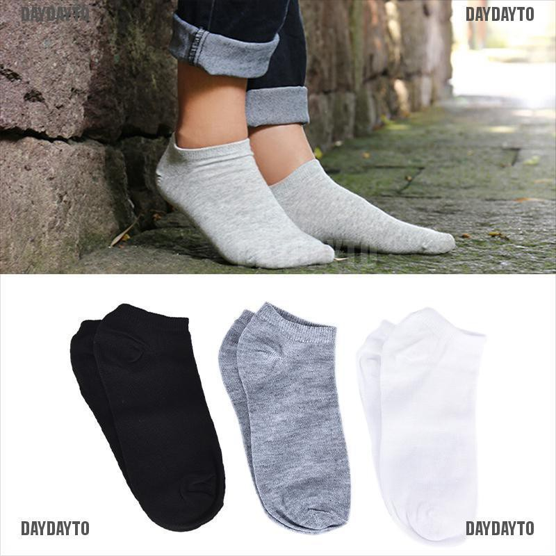 DAYDAYTO 3Pairs Sport Men Socks Breathable Fitted Ankle Socks Short Socks Slippers Meias [COD]