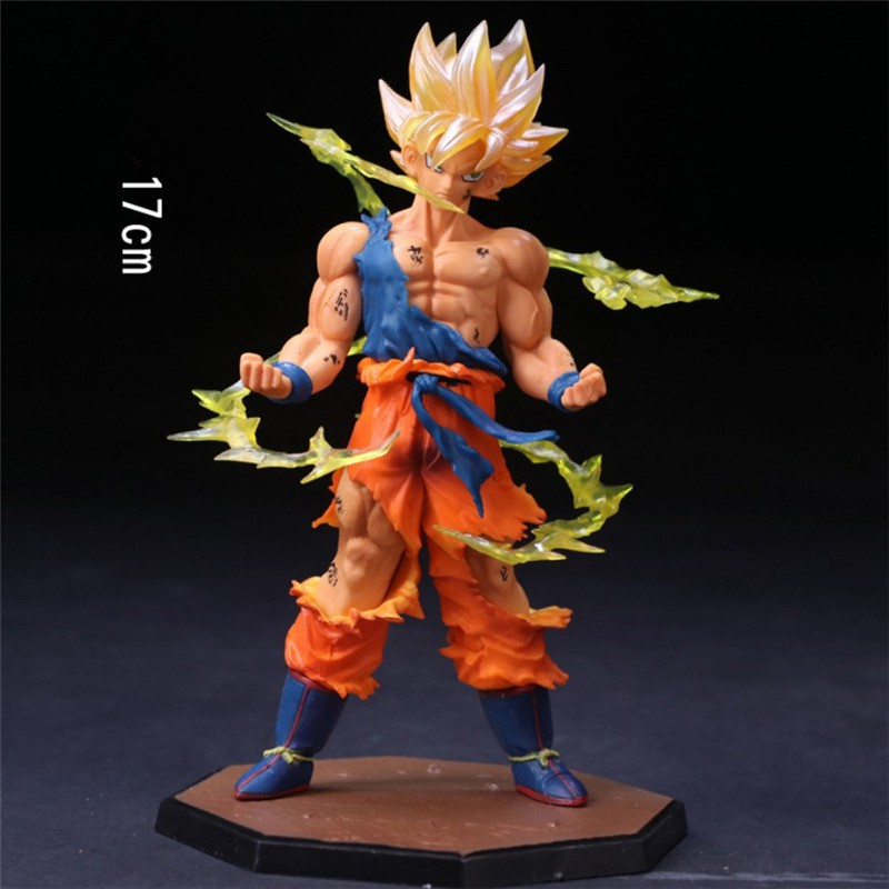 ★naiional★Kids Gift Anime Manga 17CM Super Saiyan Dragon Ball Sun Goku Model Toy