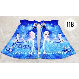 Váy đầm Elsa -  Olaf xanh