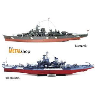 Mô Hình Lắp Ghép 3D Kim Loại chiến hạm cỡ to( version màu mới)