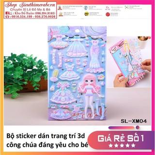 Sticker miếng dán 3d công chúa cho bé thumbnail