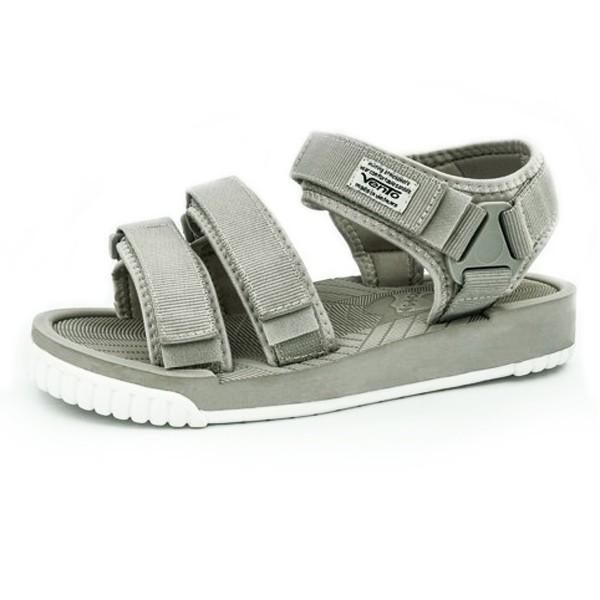 Giày Sandal Nam 2 Quai Ngang Vento 9801 Xám