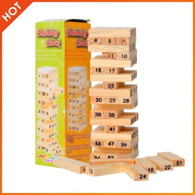 [Nhập TOYAPR10K giảm ngay 10K]Đồ chơi rút gỗ 54 thanh cho bé | HÀNG MỚI