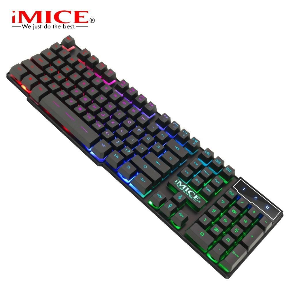 Bàn phím gaming giả cơ IMICE AK 600 - Led 7 màu - Chống thấm nước!