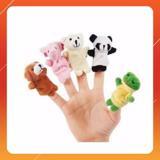 [KAS] Bộ thú rồi 5 con xỏ ngón tay bằng vải Loại Xịn