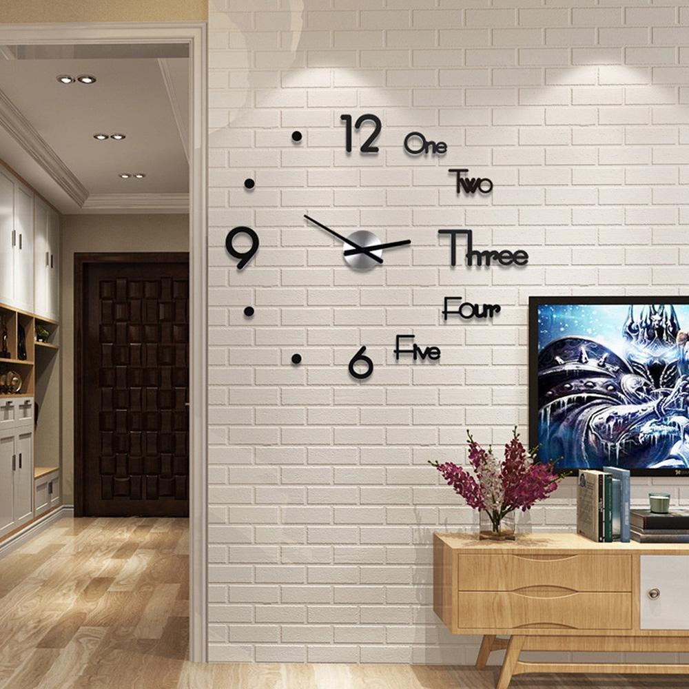 Đồng Hồ Gương Dán Tường 3d Trang Trí Nội Thất