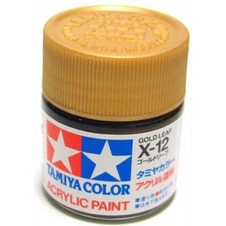 Sơn Tamiya Acrylic Paint Gold Leaf (X-12) X12