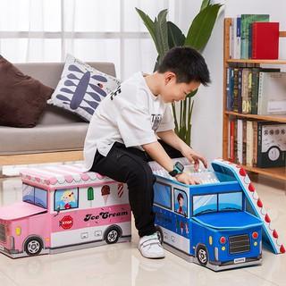 [Mã TOYJAN hoàn 20K xu đơn 50K] Thùng đựng đồ chơi hình ô tô kích thước lớn cho bé trai và bé gái