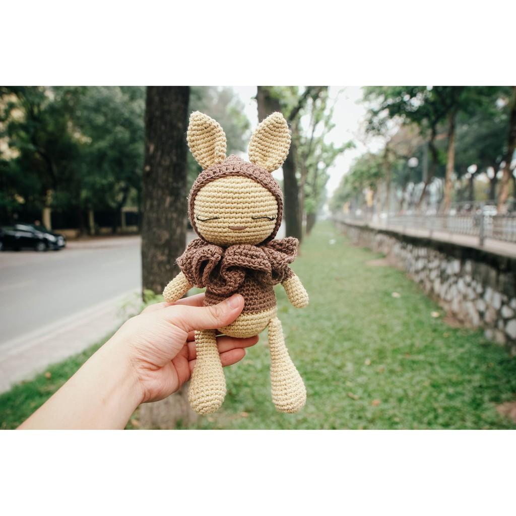 Thú bông tặng bé – Thỏ cổ bèo – Toys made by The Bunny