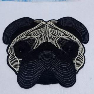 Sticker hình may lên vải hình chó pull kt 20*23