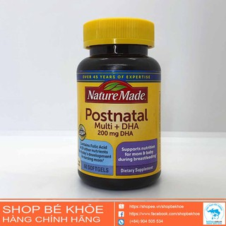 Vitamin sau sinh Postnatal Multi +DHA Nature made - Postnatal  200mg DHA