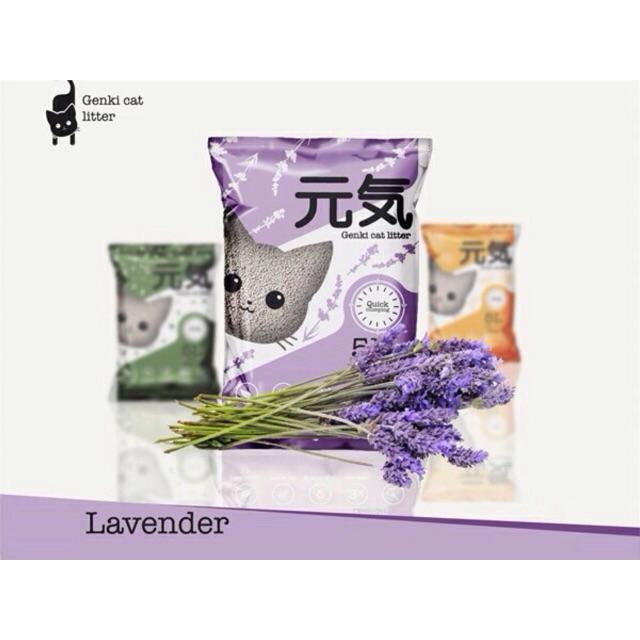 Cát vệ sinh cho mèo Genki hương lavender ( dạng sỏi )