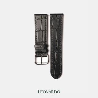 Dây da đồng hồ Cá Sấu, thay dây Apple Watch thương hiệu Leonardo