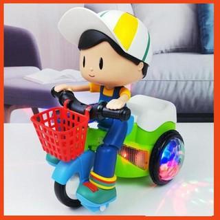 Đồ chơi em bé đi xe đạp xoay 360 độ có đèn và nhạc cho bé SP20691103