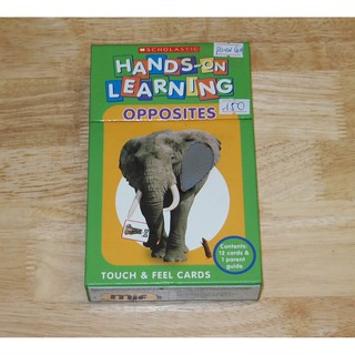 HÀNG CŨ – 98% Hộp flash cards Hands-On Learning OPPOSITES (Touch & Feel Cards)