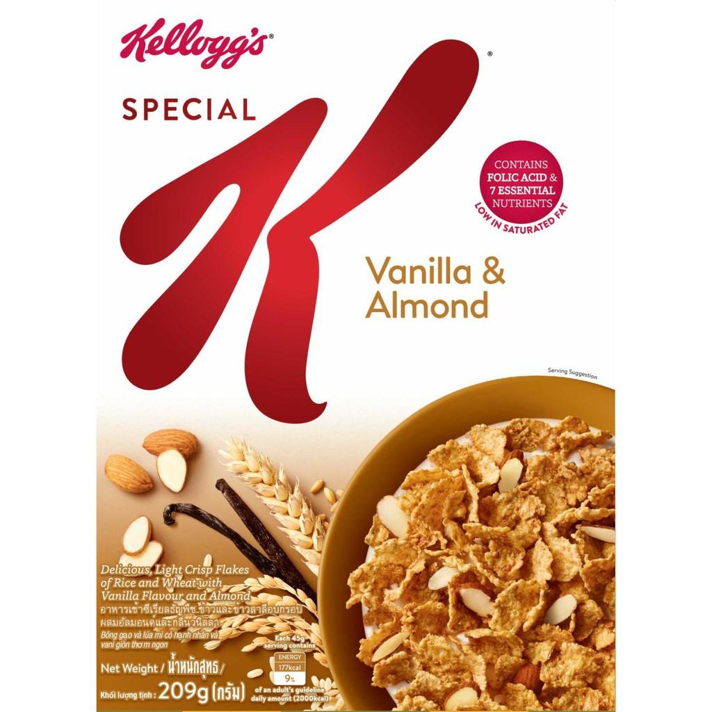 Ngũ cốc ăn sáng Kellogg's Special K Vanilla and Almonds 209g