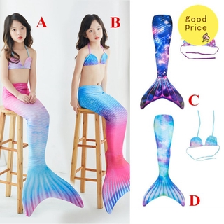 [ Mã 1010FASHIONSALE1 giảm 10K đơn 50K ] Set đồ bơi 2 mảnh kiểu đuôi nàng tiên cá dễ thương cho bé từ 3-12 tuổi