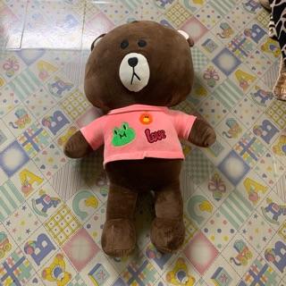 Gấu brown mặc áo màu hồng siêu xinh