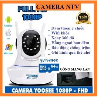 Camera Yoosee 3 Anten IP Wifi HD1080 – HÌNH ẢNH SĂC NÉT, KÈM THẺ NHỚ